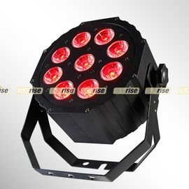 China 9pcs 12W Led Par Stage Lights RGBWA UV 6in1 DMX For Uplight City Color Light supplier
