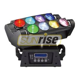 China 8x10w RGBW 4in1 Led Spider Moving Head Light 0-100% Linear Dimming distributor