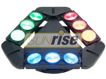 China 9 Eye Pixel Dmx Spider Moving Head Light 1800W With 1/12/14/18/50CH Optional distributor