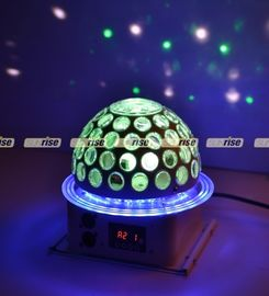 China 6x3W 360 Degree LED Effect Light , Disco Dj Stage Lighting Led Rgb Crystal Magic Ball distributor