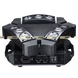 China Durable Moving Head Spider Light 9x12w , 4in1 Air Cooled Dj Moving Lights distributor