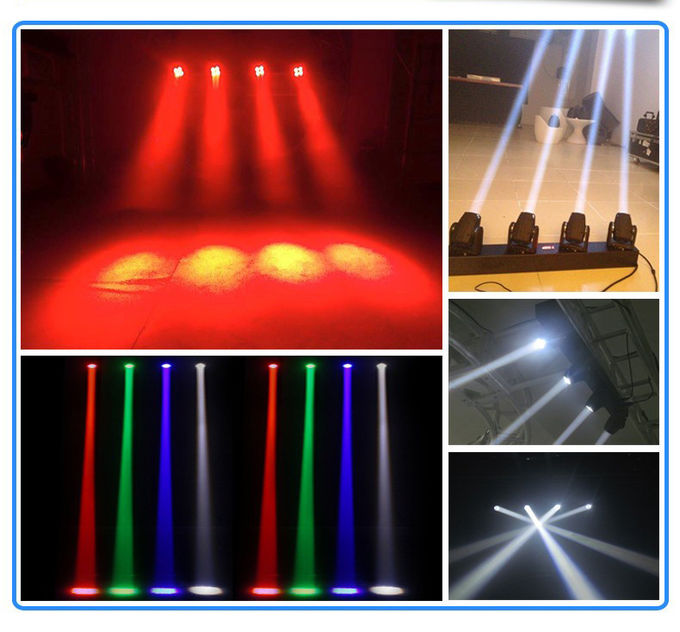 Linear 4 Moving Head Light Bar 4x10w White Leds With 100,000hrs Life Span